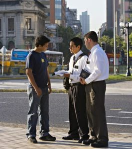 mormon missionaries street contacting
