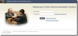 missionary recommendation online system