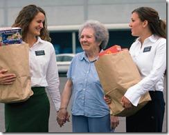 Sister Missionaries Serving