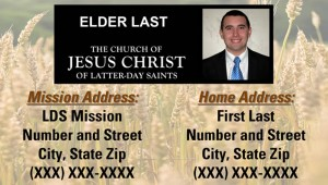 missionary card