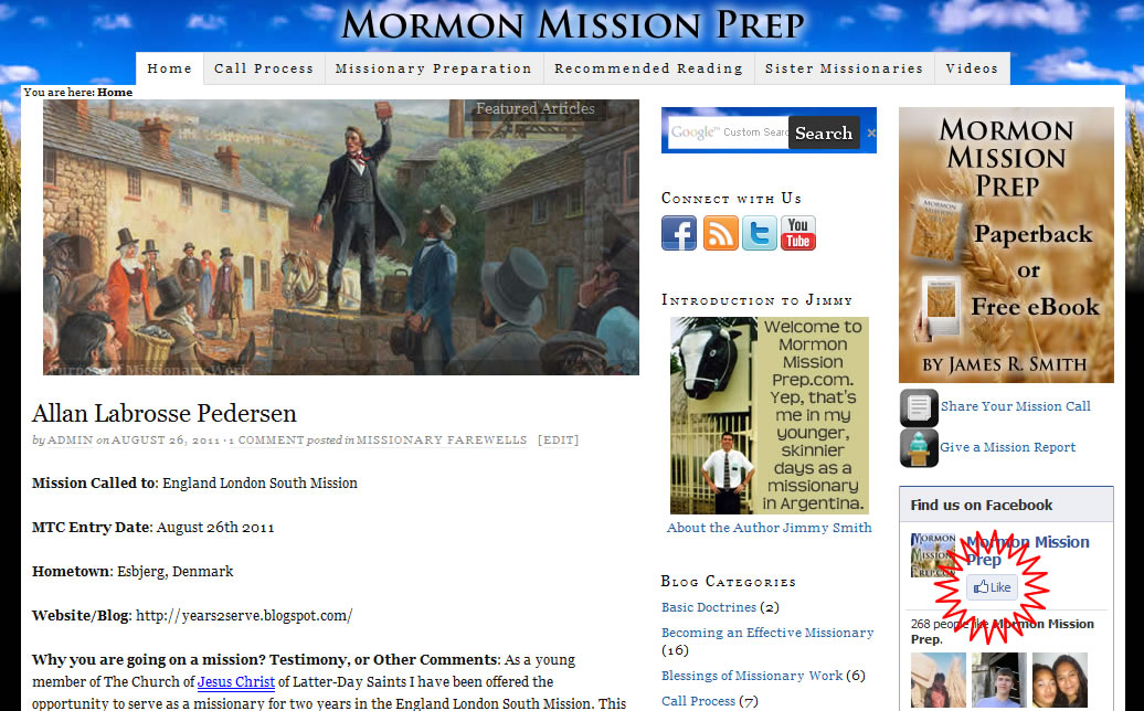 Mormon Mission Prep Facebook Like
