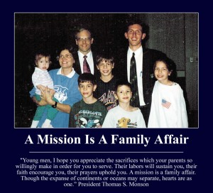 A mission is a family affair