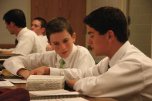 young men preparing missionaries
