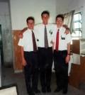 Mormon Missionaries in Paraná Argentina 1995 - Feature