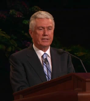 President Dieter F. Uchtdorf in General Conference