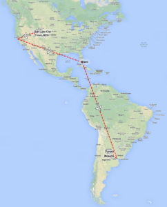 map of trip to argentina