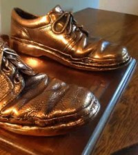worn out missionary shoes bronzed - featured