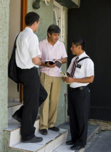 missionaries practicing language
