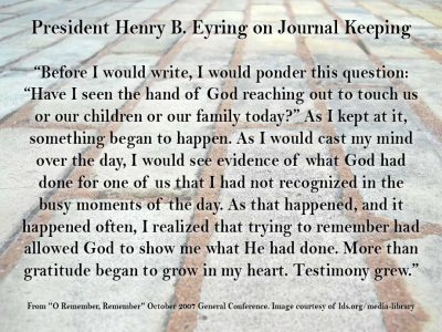 journal keeping quote from henry b eyring