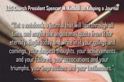 keeping a journal quote from spencer w kimball