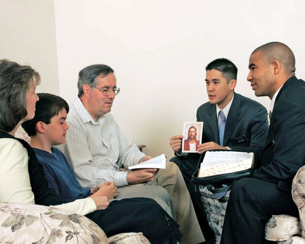 gift of tongues mormon missionaries teaching a family