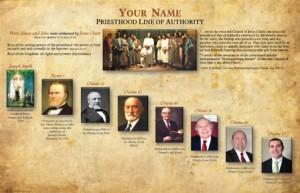 priesthood line of authority