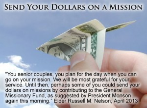Send your dollars on a mission
