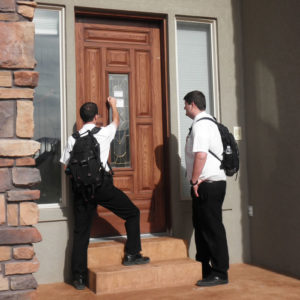 Mormon Missionaries Knocking Door