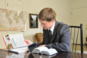 Missionary Studying Scriptures