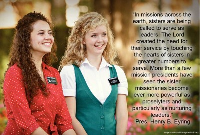 two sister missionaries smiling
