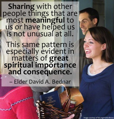 sharing matters of spiritual importance