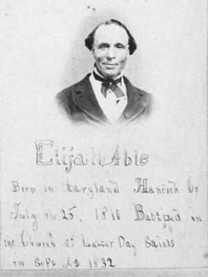 Elijah Abel baptism certificate 1832